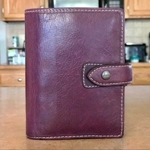 Beautiful Filofax Leather Pocket Malden Planner